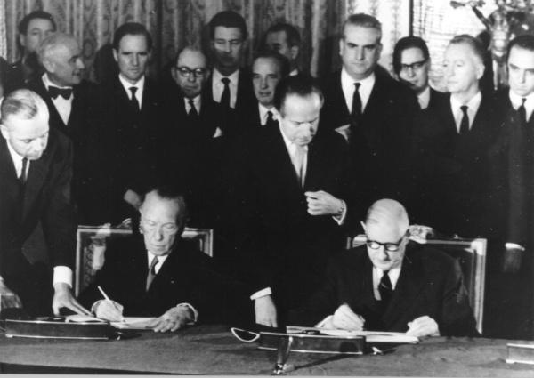 Signature du Traité de l'Élysée le 22 janvier 1963